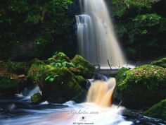 Sloughan Glen waterfall in the land of the Fairies, Drumquin, County Tyrone.