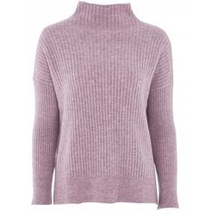 Topshop Petite Oversized Rib Funnel Knitted Jumper found on Polyvore featuring tops, sweaters, purple jumper, purple sweater, ribbed sweater, acrylic sweater and topshop jumpers