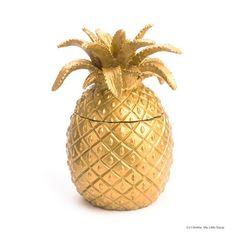 Coussin ananas dor et paillet lin nude accessoires de for Ananas deco argent