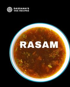 This quick Rasam recipe is made without rasam powder and lentils (dal). Rasam is a staple South Indian soup-like dish made with tamarind, spices, herbs, and veggies or fruits. This spiced, tangy, and sour rasam is sure to warm your palate and heal your cold if you have any. #rasam #southindian #southindiancuisine South Indian Vegetarian Recipes, Indian Veg Recipes, Vegetarian Recipes Videos, South Indian Food, Cooking Recipes, Prawn Dishes, Spicy Dishes, Food Dishes, Food Food