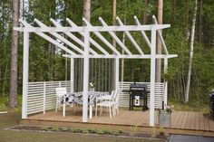 Pergola Patio, Gazebo, Backyard, Pool Landscaping, Log Homes, Garden Planning, Terrace, Building A House, Woodworking