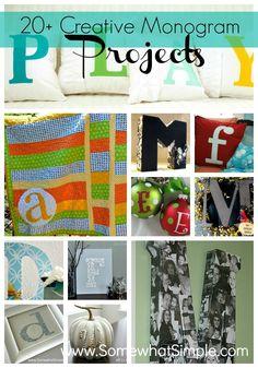 20 Monogram Projects