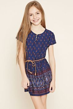 Girls Ornate Print Dress (Kids) | Forever 21 girls - 2000153808