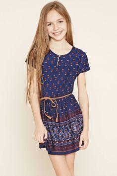 Girls Ornate Print Dress (Kids) | Forever 21 girls - 2000153808