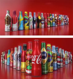 Bottles edition special by coca-cola for Brasil 2014 #coca-cola #brasil #mundial2014