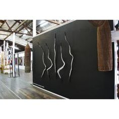 Installation photo of 'Four Spirits from Maningrida' exhibition at FireWorks Gallery 2014