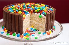 Cut M&M Cake