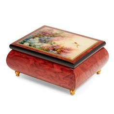 "Jewellery Box with Melody playing ""Brahms Lullaby by Celine Dion"""