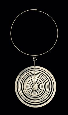 Hopeakuu neckpiece   Designed by Tapio Wirkkala, made by Nilo Westerback, Finland, 1970.   Sterling silver