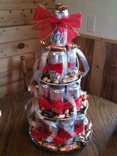 Beer cake, makes for a great Father's Day gift....