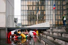 Bodies in Urban Space by Willi Dorner
