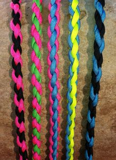 Neon Paracord Necklace  Party Package for by ParacordTeamProducts,