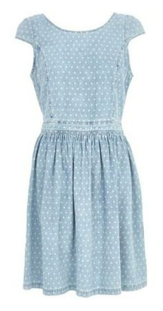 DOTTED DENIM DRESS // Dressed Up Denim - Clementine Daily