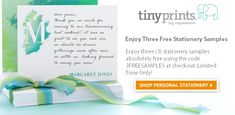 Try out Treat.com with a free greeting card or Enjoy Three Free Stationery Samples
