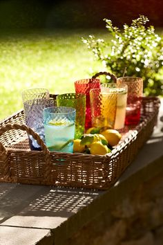 Be colorful! Guest will know whose drink is whose in when each person has their own colored serveware.