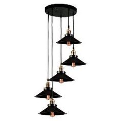 Warehouse Of Tiffany 9 X 12 X 38 Inch Black Ceiling Lights