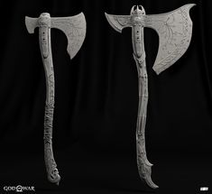 ArtStation - G.W Axe Upgrades, Igor Catto Start of the game and end of the game. Vikings, Kratos Axe, Cosplay Weapons, Zombie Weapons, Kratos God Of War, Battle Axe, Snake Design, Weapon Concept Art, Fantasy Weapons