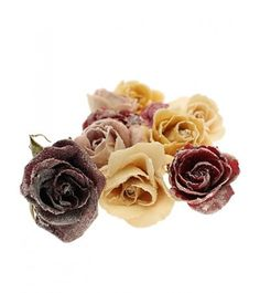 Preserved in their natural state, these whole roses are simply coated in sugar and then dried. Add a sophisticated touch to wedding cakes, tortes and pavlovas. Candy Flowers, Artisan Food, Crystal Flower, Online Gifts, Baking Ingredients, Gourmet Recipes, Wedding Cakes, Yummy Food, Crystals