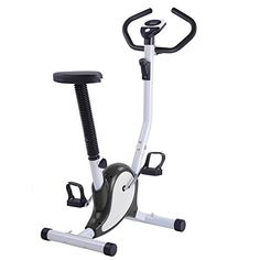 AW Black Exercise Bike Fintess Cycling Machine w/ LCD Display Personal Gym Cardio Aerobic Equipment *** Want additional info? Click on the image.