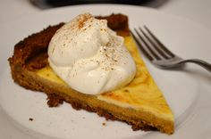 Recipe: Pumpkin Maple Cheesecake Tart (Follow our other boards for detox, fitness, yoga and green living tips: pinterest.com/gaiam)