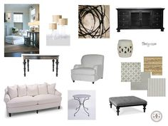 greige: interior design ideas and inspiration for the transitional home : Living room and Family room Design