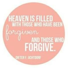 Forgive as quickly & as often as you expect the Father to forgive you.