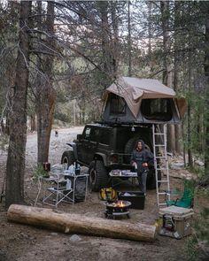 My Jeep Addiction — Ooooooohhhhhh yyyeeeaaahhh ! Jeep Wrangler Camping, Jeep Camping, Jeep Jk, Jeep Truck, Jeep Wrangler Unlimited, Camping Survival, Camping Life, Jeep Tent, Top Tents