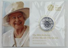 2016 UK Queen's 90th Birthday 20-pounds Pure Silver Brilliant Uncirculated Coin