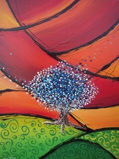 bosque  de colores alegre