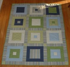 Simple squares quilt, free pattern is on my blog.