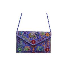 NOVICA Floral Elephant Motif Beaded Sling Handbag from India ($38) ❤ liked on Polyvore featuring bags, handbags, accessories, blue, clothing & accessories, slings, hand bags, white handbag, embroidered purse and beaded purse