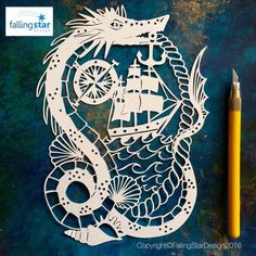 Items similar to Nautical Sailing Papercutting Template on Etsy Falling Stars, Star Designs, How To Raise Money, I Am Happy, Pretty Little, Paper Cutting, Art Drawings, Nautical, Sailing