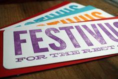 Festivus greeting cards Festivus, Holiday Parties, Letterpress, Greeting Cards, Holidays, Party, Inspiration, Biblical Inspiration, Fiesta Party