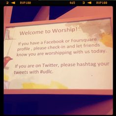 "Checking-In at Church || way to encourage a social media ""word of mouth"" campaign"
