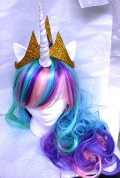 Gold Crown Princess Celestia Sparkle Princess by GustavosGoods, $20.00