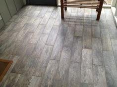MARAZZI Montagna Rustic Bay 6 in. x 24 in. Glazed Porcelain Floor and Wall Tile sq. / case) at The Home Depot - Mobile Wood Like Tile Flooring, Painted Concrete Floors, Porch Flooring, Wood Look Tile, Hardwood Floors, Basement Remodeling, Remodeling Ideas, Tile Patterns, Home Decor Bedroom