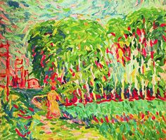 A Woman In A Birch Wood - Ernst Ludwig Kirchner