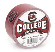 University of South Carolina Duck Tape® brand duct tape http://duckbrand.com/products/duck-tape/licensed/college-duck-tape/south-carolina-188-in-x-10-yd?utm_campaign=college-duck-tape-general&utm_medium=social&utm_source=pinterest.com&utm_content=college-duck-tape