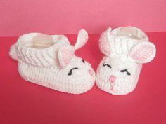 Baby Bunny Booties Easter Bunny Booties Crochet di MiLaViKnits
