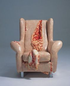 Chair with Guts - umm.... eww!