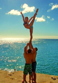 Next season my stunt group will stunt on the beach <3 nothing better than putting the 2 things i lovee together ! Cheer and the beach (: