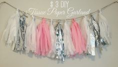 Life With Grace - A Lifestyle Blog : DIY Tissue Paper Garland