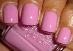 "Much better pic of the color, deleted older one. Essie - ""Cascade Cool.""  Really cute bubblegum pink."