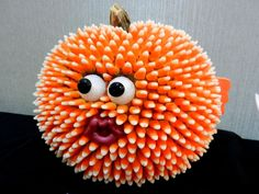 Blowfish made of candy corn, won 2nd place in our category