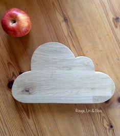 Dessous de plat nuage en bois de chêne accessoire de cuisine : Cuisine et service de table par rouge-lin-et-bois