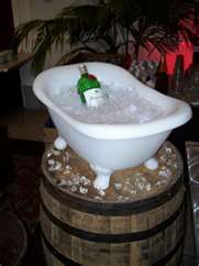 Bathtub for drinks would be fun for an outdoor party... but a little hard to come by. This small replica is cute. Anybody know where to get one or how much it is?