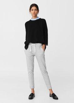 Cotton jogging trousers   MANGO