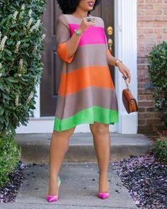 African Wear Dresses, Latest African Fashion Dresses, Women's Fashion Dresses, Chic Dress, Classy Dress, Simple Dresses, Casual Dresses For Women, Modelos Fashion, Colorful Fashion