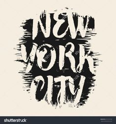 Vector illustration on the theme of New York City. Grunge background.  Typography, t-shirt graphics, print, poster, banner, flyer, postcard