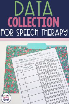 Data collection for speech therapy